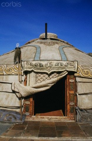 A yurt in Chingissin, Mongolia. Nomadic architecture creates some of the most flexible spaces in architecture and has for most of human history.  Not only do most nomadic structure have an open plan, they also are so flexible that they collapse and can travel with you.