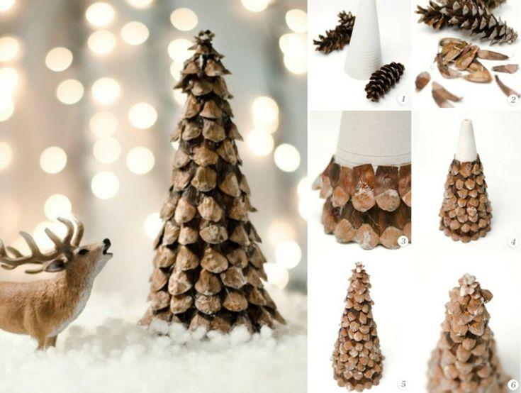 basteln tannenzapfen advent mini tannenbaum samen naturmaterialien einfach selber machen. Black Bedroom Furniture Sets. Home Design Ideas