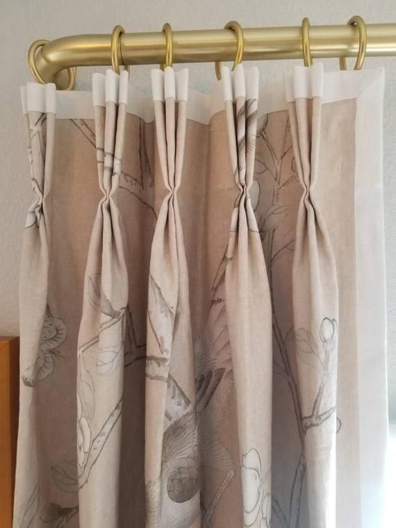 French Drape Rod Metal Drapery Rod With Curved Return Or 90