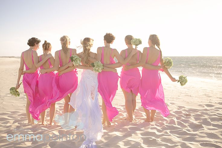 a must-get photo with your bridesmaids at  your beach wedding