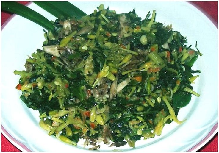 Sayur bunga pepaya (vegetables)