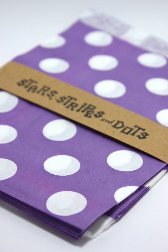 Purple and white Treat paper bags Lilac by StarsStripesAndDots, €2.99
