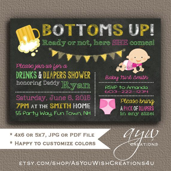 33 best beer and diaper party for men images on pinterest | man, Party invitations