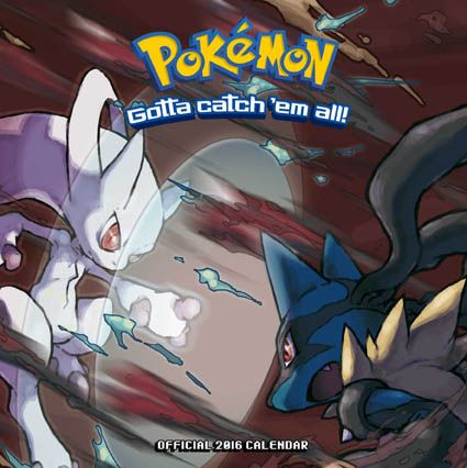 Official Pokemon 2016 Calendar available from Publishers at https://www.danilo.com/Shop/Calendars/Gaming-Calendars