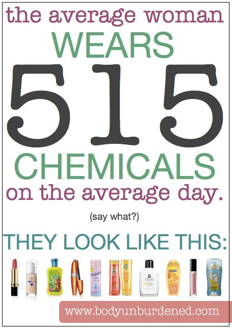 The average woman wears 515 chemicals on the average day. They look like this ... for more information on SAFE and NON-TOXIC alternatives for your whole family visit my page http://www.avaandersonnontoxic.com/mirandapalomo