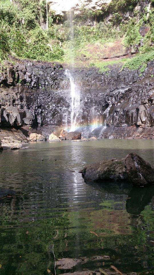 TLC once said don't go chasing waterfalls... #waterfall #nature #hiking #tlc #rainbow