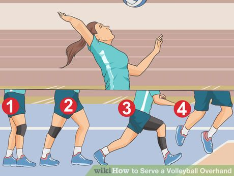 Diving for a volleyball