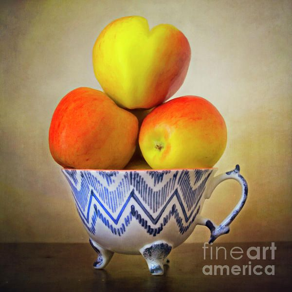 """Apple Heart"" ...enhanced photographic print..."