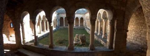 Claustre Colegiata Castell de Mur #romanico #lleida #pallarsjussa