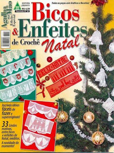 BICOS E ENFEITES CROCHE NATAL - Vera Xangai - Álbumes web de Picasa.     Orillas hermosas a crochet