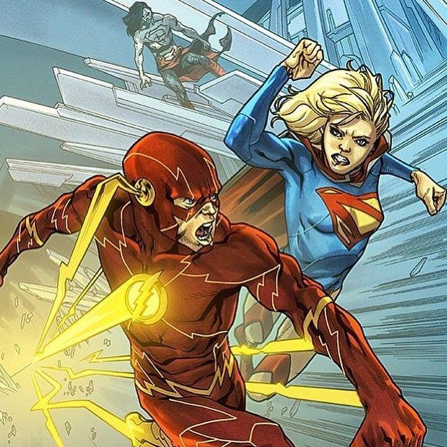 The new 52 flash vs Supergirl #flash #vs #supergirl #dc #dccomics52 #new52