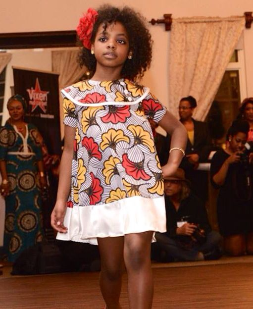 Ankara Silk Multi Colored Flowered Girl Dress By Shells Belles Kidz