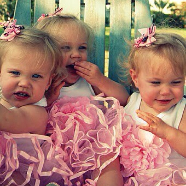 The loves of my life...my triplet nieces.