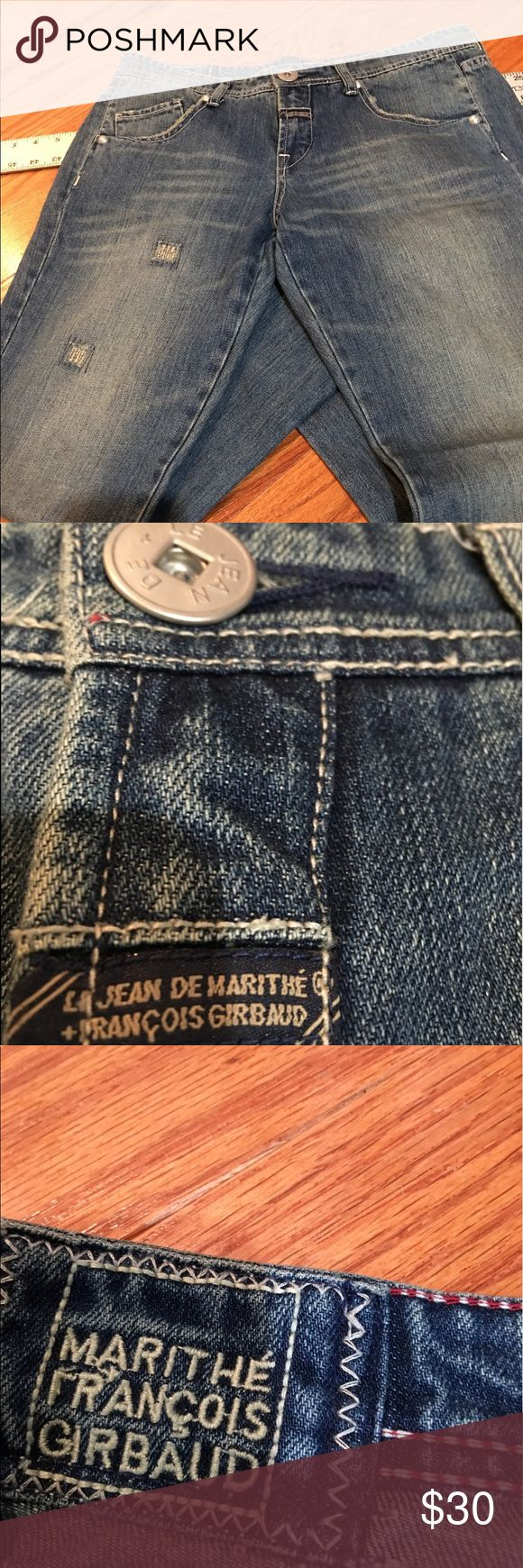 New Marithe Francois Girbaud New De Le Jeans, size 29.  Distressed Look. Bought/removed tags/never wore.  Smoke Free Owner/Home. Marithe Francois Girbaud Jeans