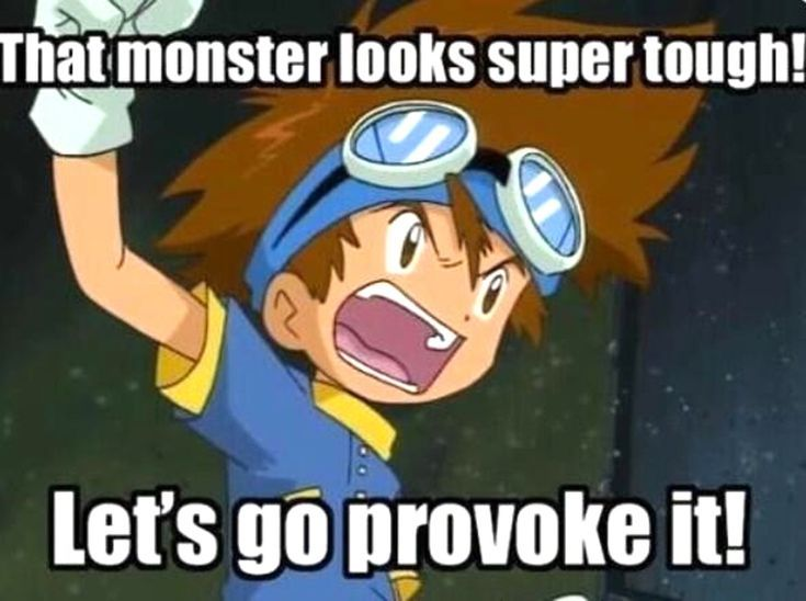These Digimon Anime Memes are Super Funny: Tough Monster Digimon Meme