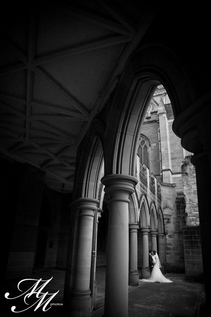 Rebecca & Michael A stunning intimate moment captured at the beautiful St Mary's Cathedral, Sydney.