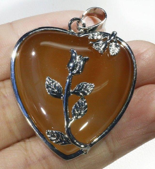 85cts Carnelium heart pendant PPP1213 heart shape gemstone pendant, pendant carnelian