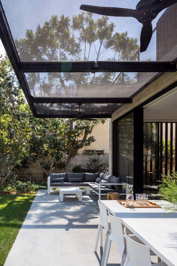 Planos Casa Moderna Y Segura De Dos Pisos Techo De Patio