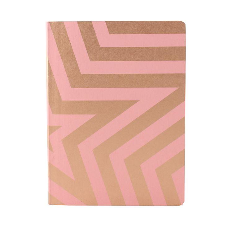 Nuuna notitieboek Super star roze #nuuna #notitieboek #notebook #superstar #star #pink #roze #gold #goud #screenprint #zeefdruk #jeanslabels #recycled