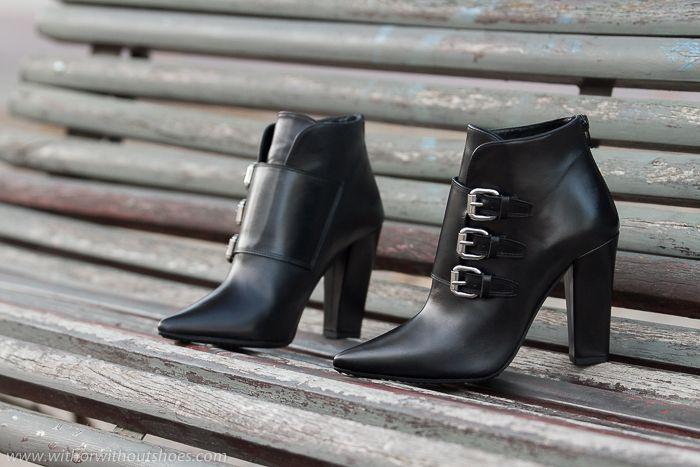 Nuevos Zapatos: Botines de punta afilada con hebillas y tacón ancho cubano de Rebeca Sanver | With Or Without Shoes - Blog Moda Valencia España