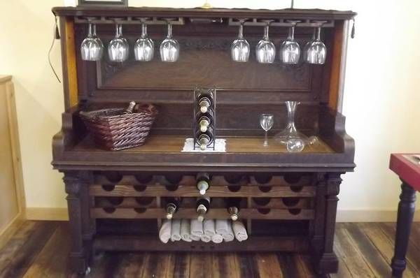 upcycled antique piano into a bar | piano sideboard ...