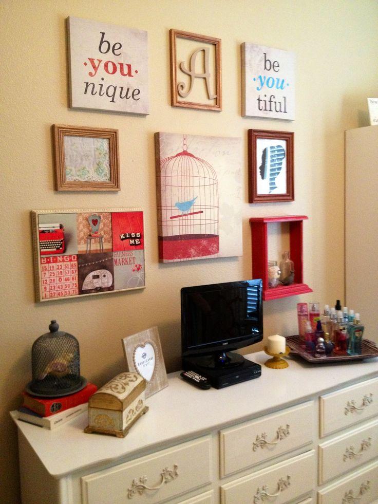 189 best tween room images on pinterest bedroom ideas for Teenage wall designs