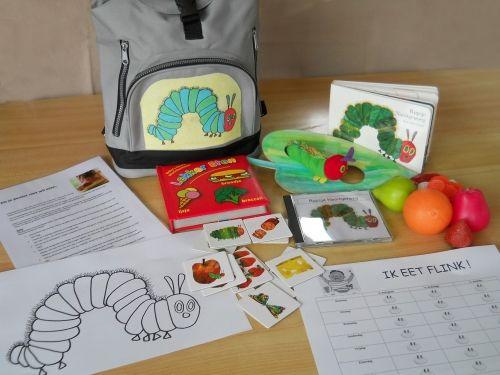 Inhoud verteltas Rupsje Nooit Genoe. Verteltas voor moeilijke etertjes - kleuterschool H. Familie Oudenburg Ettelgem