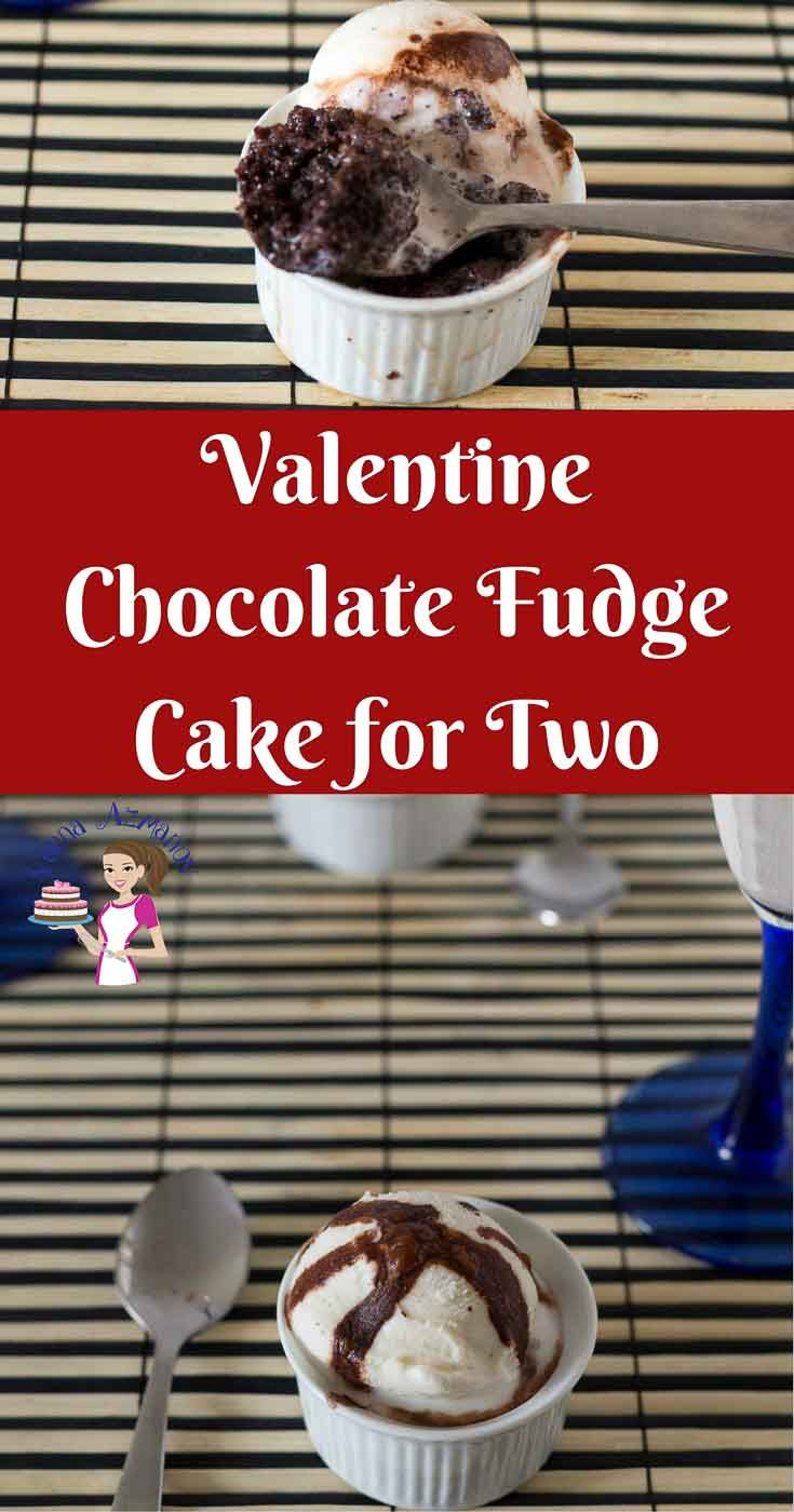 Chocolate makes a perfect dessert to celebrate Valentine's Day like these Chocolate Fudge Cake for two. Simple, easy and effortless recipe makes just the right amount for you and your valentine. Bake these ahead to serve room temperature, better yet serve these warm with a dollop of vanilla ice cream and chocolate sauce.