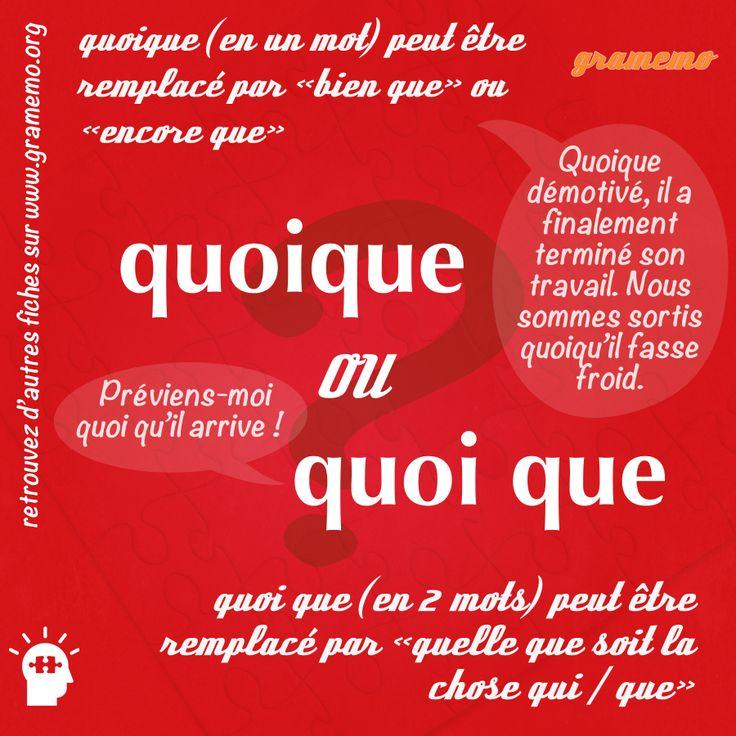 """Différences : """"quoique"""" ou""""quoi que"""""""