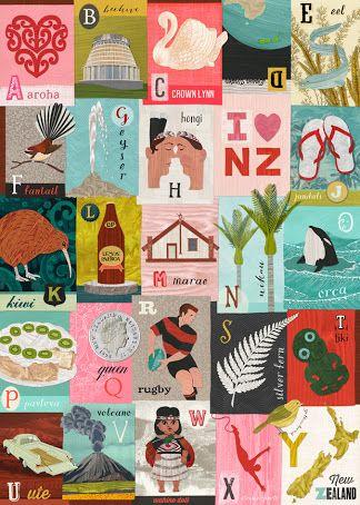 new zealand alphabet flash cards - Google Search