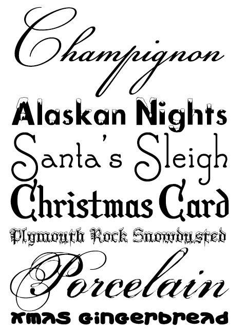 karácsonyi fontok, christmas fonts