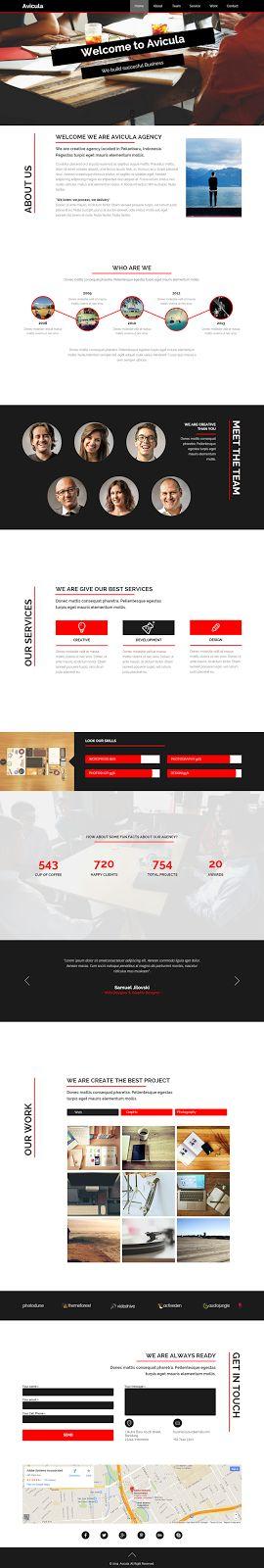 #webdesign #adobe Avicula #Business Creative Muse Template ->>>