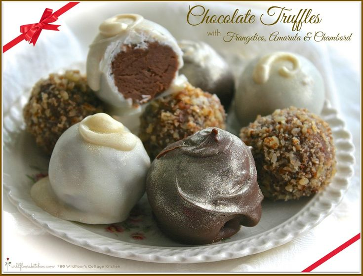 chocolate ganache truffles and chocolate dipped pretzels frangelico ...