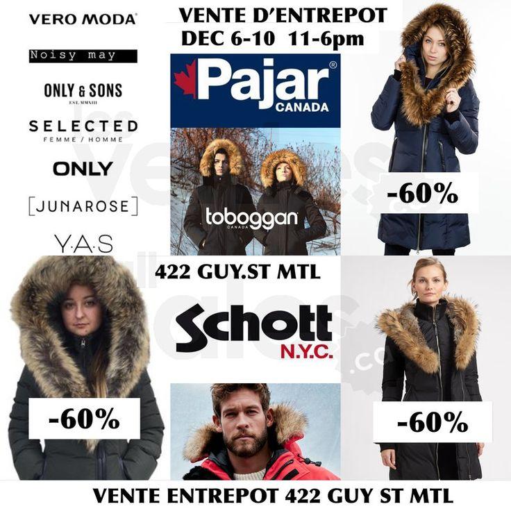 Manteaux Pajar, Toboggan, Schott -60%   lesventes.ca