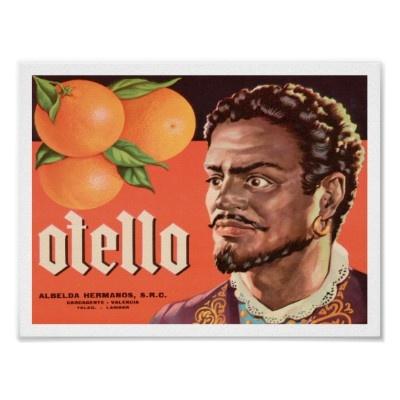 Othello Otello Shakespeare Art Poster | Zazzle.ca | Fruit ...