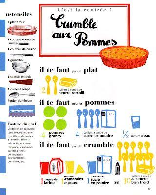 Crumble aux pommes, Illustration Joëlle Jolivet.