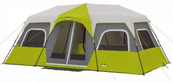 Core 12 Person Instant Cabin Tent Review – Great Price & Area This Core 12 Person Instant Cabin Tent Review is about one of the largest family camping tents on the market. With 3 rooms, this freestanding tent sets up in under 2 minutes. #tents, #camping,