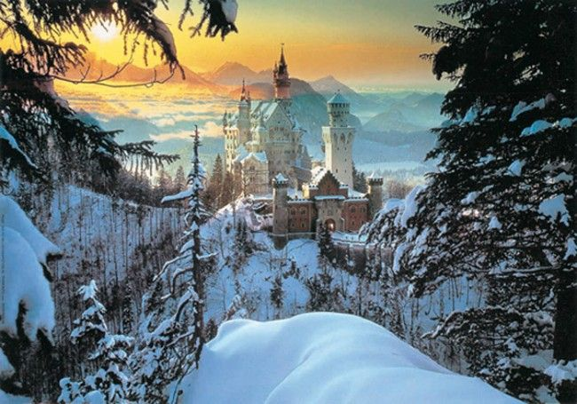 Clementoni 31390 - Neuschwanstein Castle in Winter - Jigsaw 1000 pieces Jigsaws Number of pieces 1.000 pieces