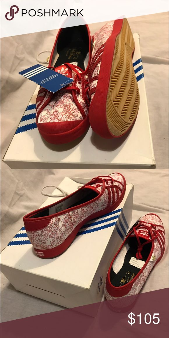 Adidas Sleek Series-Adria Sleek Low (red/white) Brand New Flats Adidas Shoes Flats & Loafers