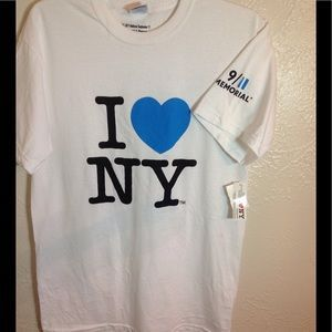 I just added this to my closet on Poshmark: NWT I Love New York 911 Memorial Tshirt Medium. Price: $18 Size: M