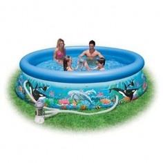 http://idealbebe.ro/intex-piscina-ocean-reef-305-76-cm-p-15085.html Piscina gonflabila cu pompa de filtrare cu transformator de 12V, alimentare la priza (230V) si manual de instructiuni. Piscina este ideala pentru relaxare in zilele calduroase de vara. Este confectionata din vinil si are marginile confortabile pentru o relaxare totala.