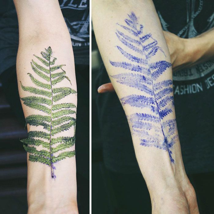 Artista inventa novas tatuagens inspiradas em folhas e plantas reais