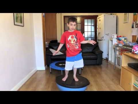 13 OT Mini Trampoline and Bosu Ball Exercises for Kids to work on coordination and balance
