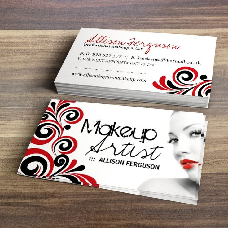 Fully customizable cosmetics business cards created by