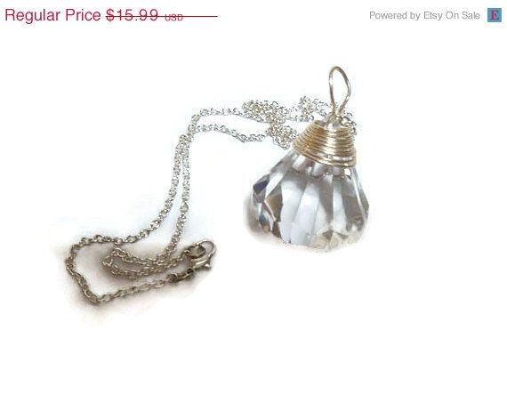 Sailor Moon Silver Imperium Crystal Silver Wire Wrapped Necklace Cosplay sailormoon jewelry
