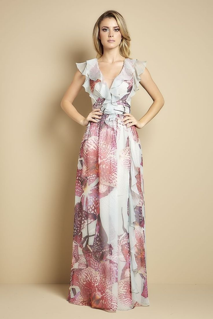 Pin En Long Dress