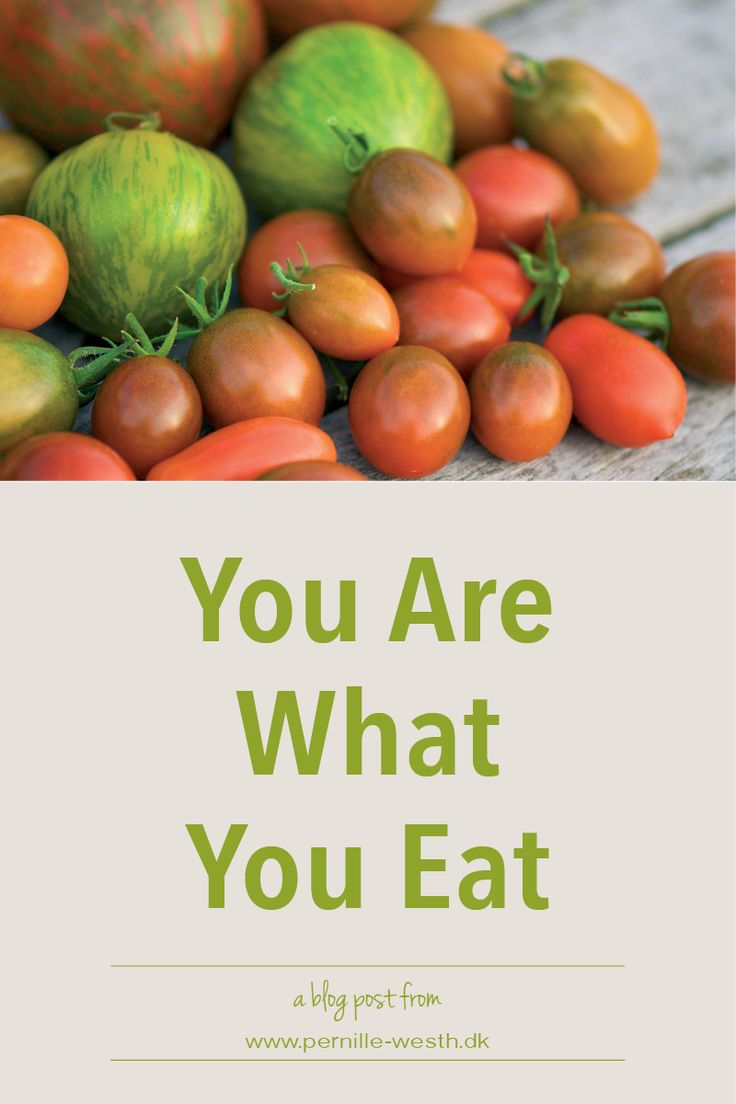 You probably have heard this before - you are what you eat. It is not like if you eat meat from a cow you become a cow, it is like if you eat healthy food, you become healthy - both your body and mind become healthy. However, what is healthy to you might not be healthy to your friend. Every body is unique. Men and woman also have different dietary needs. Read my blog post; http://www.pernille-westh-blog.com/single-post/2016/07/05/You-Are-What-You-Eat