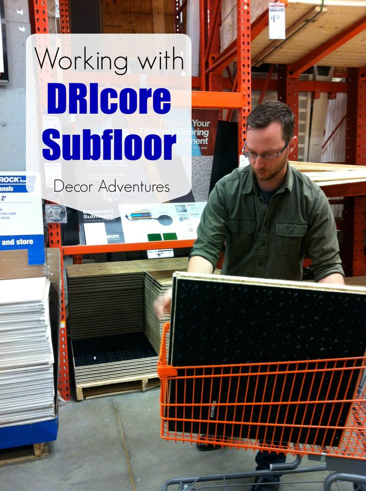Read about DRIcore subfloor and tips on how we installed it in our 113 year old house in the basement bathroom. Basement subfloor, DRIcore panels, DRIcore.