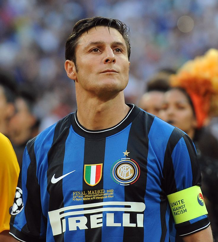 Javier Zanetti at the Champions League Final against Bayern Munich