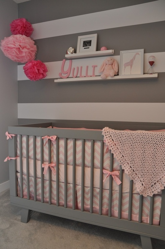 Best 366 Best Pink And Grey Rooms Images On Pinterest Nursery 400 x 300